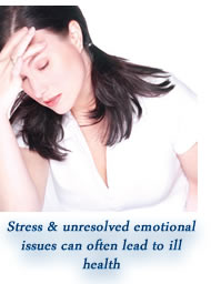 Stress & suppressed emotions cause ill health